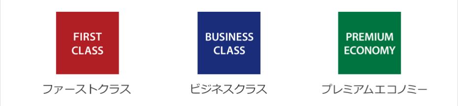 ANA国際線クラス表