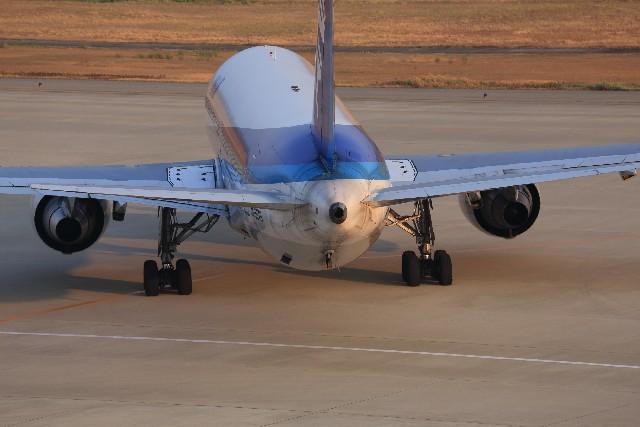 ANA航空機を後ろからみた写真
