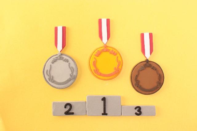 表彰台メダル画像
