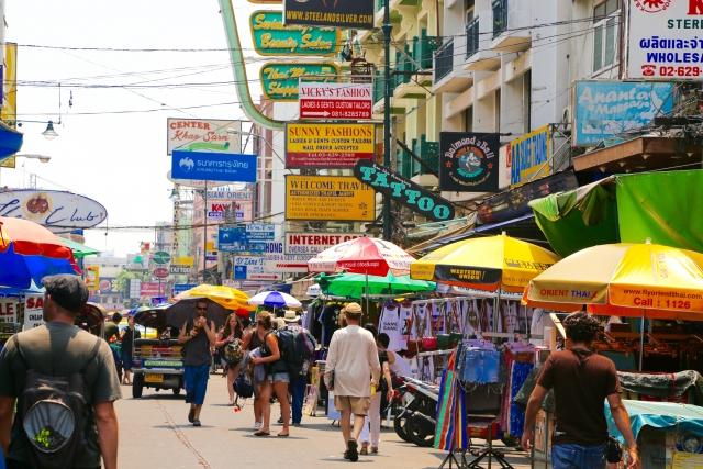 バンコク市街地の風景