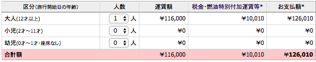 JAL東京サンフランシスコ価格
