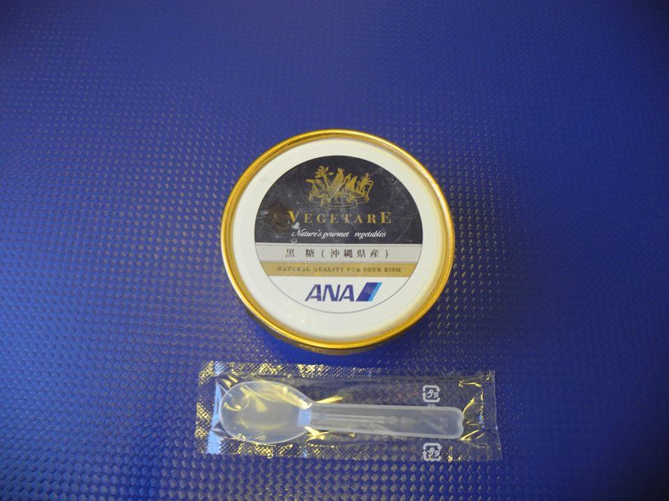 ANAプレミアムクラス黒糖アイス