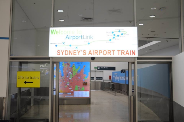 シドニー空港エアポートトレイン