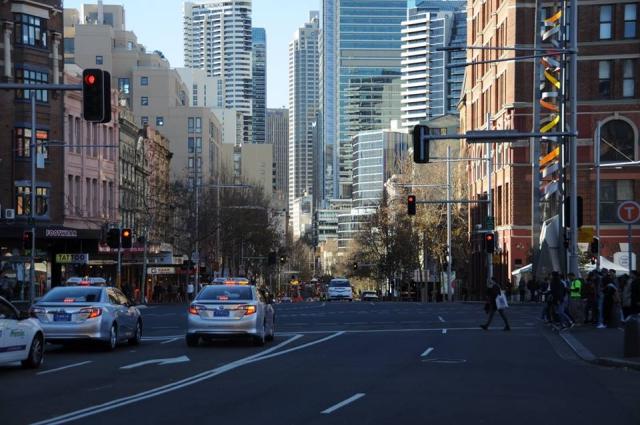 シドニーのセントラル駅前