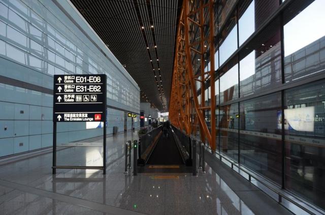 北京空港ca183便の搭乗口