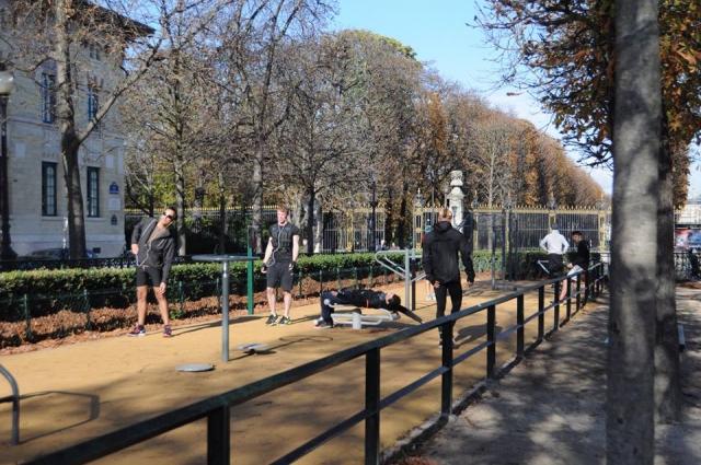 リュクサンブール公園のジム設備