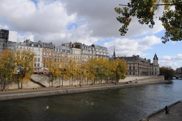 パリのシテ島の街並み