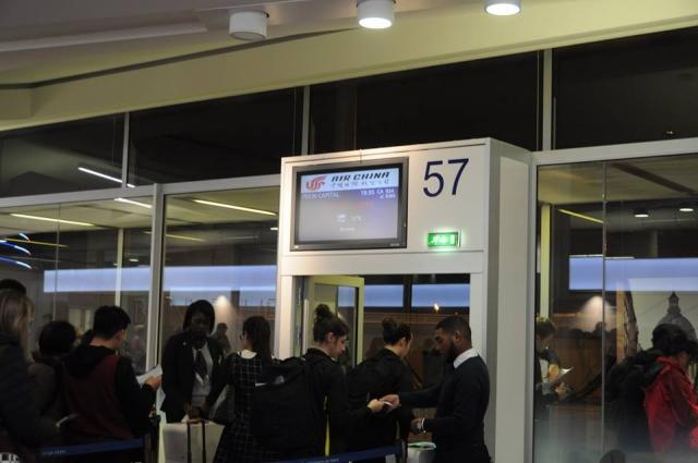 シャルルドゴール空港のCA934便搭乗口