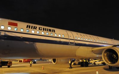中国国際航空の沖止め