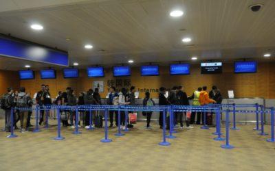 中国国際航空乗り継ぎカウンター