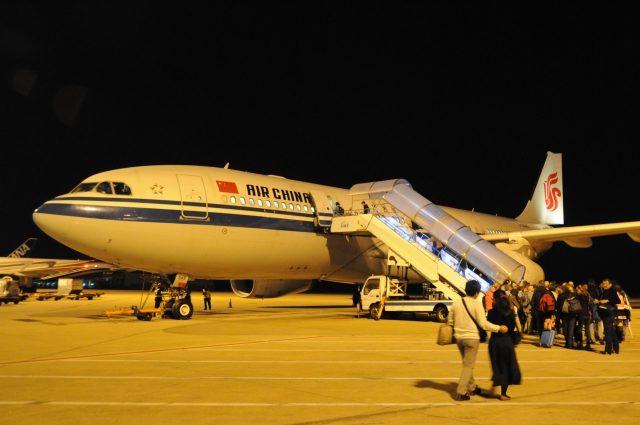 上海空港の駐機場