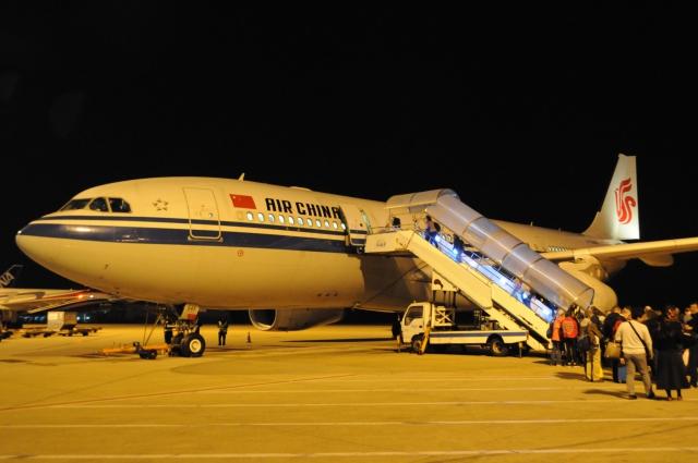 中国国際航空沖止め
