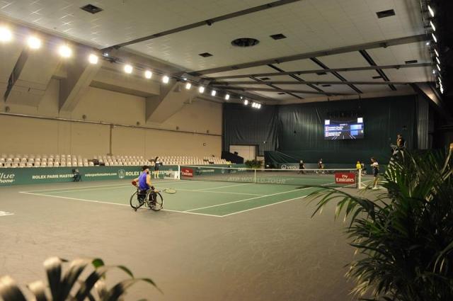 ATPテニスパリマスターズコート1とコート2