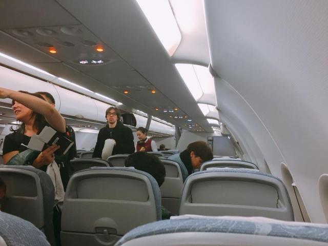 中国国際航空の機内