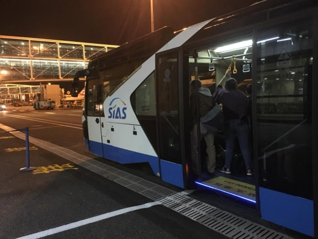 中国国際航空乗り継ぎバス