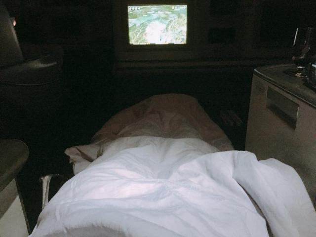 中国国際航空ビジネスクラスのベッド