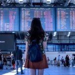 空港と女性