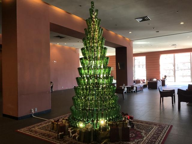 星野リゾート八ヶ岳のクリスマスツリー