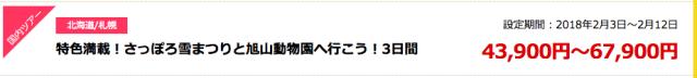 近畿日本ツーリスト初売り札幌セール