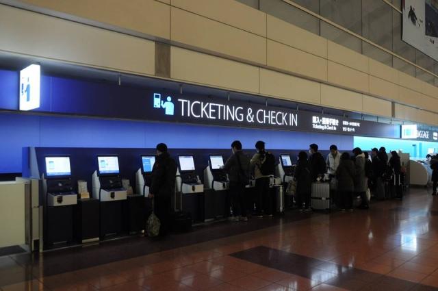 羽田空港ANAカウンター