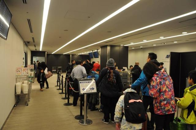 羽田空港のプレミアムチェックイン