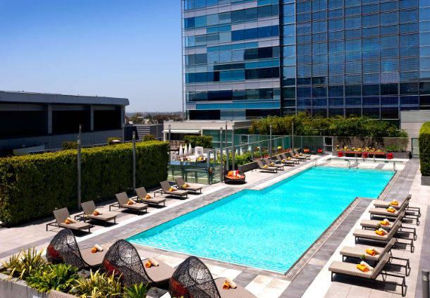 JWマリオットロサンゼルスのプール