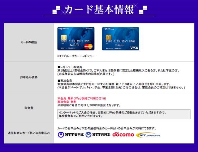 NTTグループカード概要