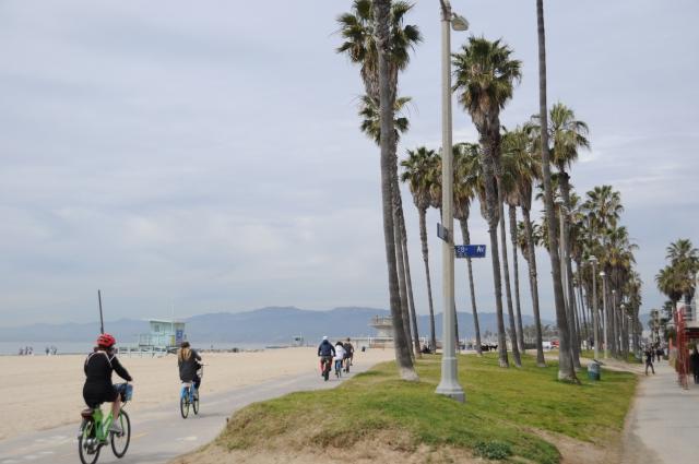 ベニスビーチのサイクリングロード
