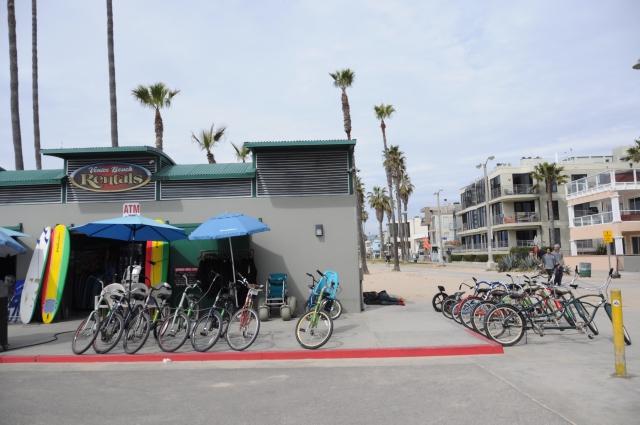 ベニスビーチのレンタサイクル