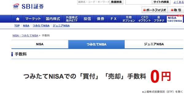 NISA手数料