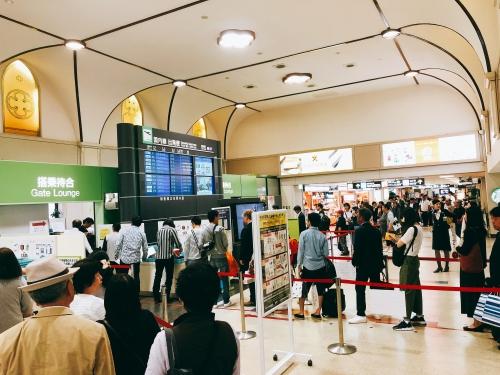 長崎空港の手荷物検査場
