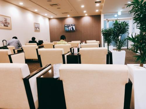 長崎空港のラウンジ