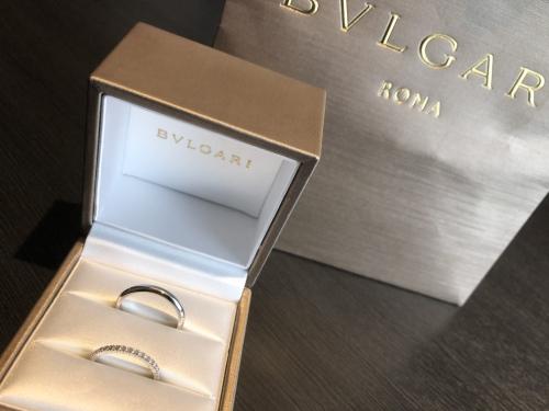 銀座ブルガリ結婚指輪購入