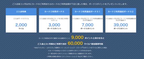 ANAアメックスゴールド入会キャンペーン