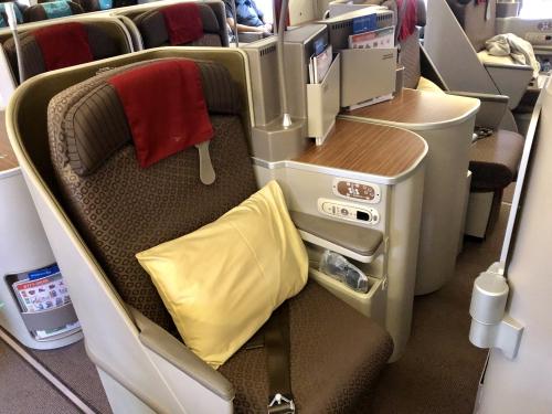 ガルーダインドネシア航空ビジネスクラスGA881便