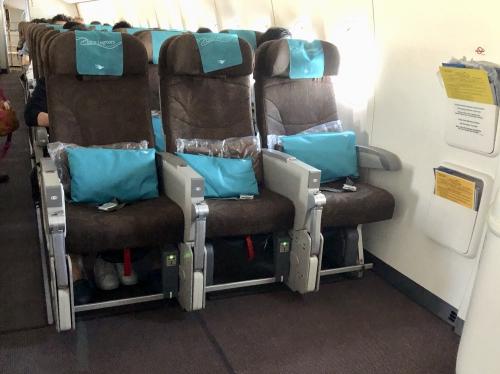 ガルーダインドネシア航空非常口席GA881便