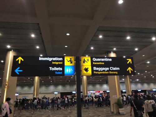 デンパサール空港の入国審査