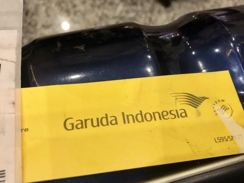 ガルーダインドネシア航空の荷物優先タグ