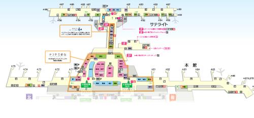 成田空港フロアマップ