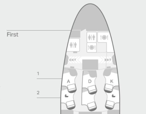 キャセイパシフィック航空ファーストクラス座席