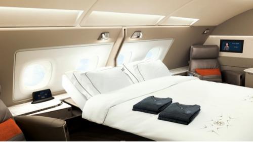 シンガポール航空の新スイートダブルベッド