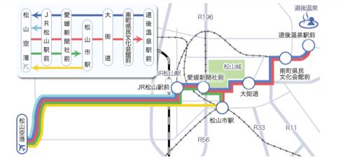 松山空港のリムジンバスルート