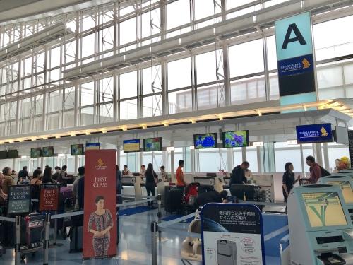 シンガポール航空カウンター