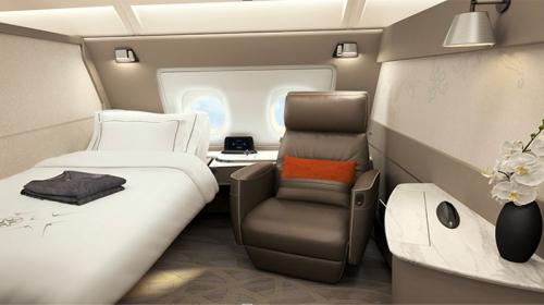 シンガポール航空の新スイートシングルベッド