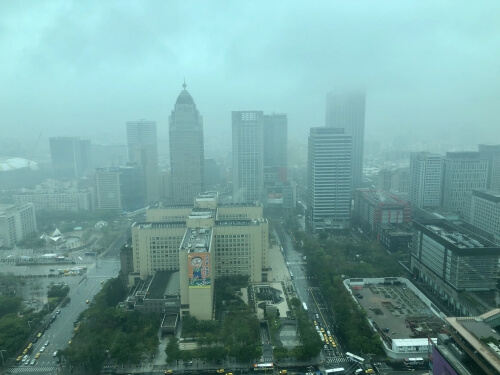 台北101のスターバックス景色