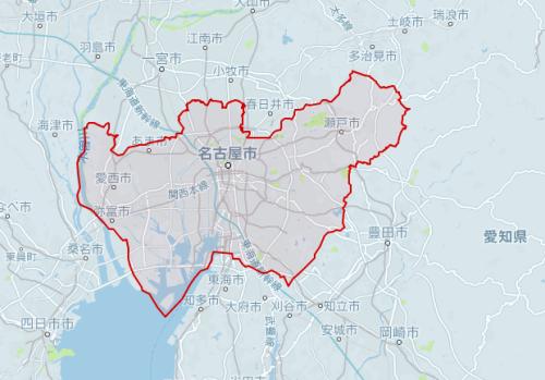 uber名古屋対応エリア