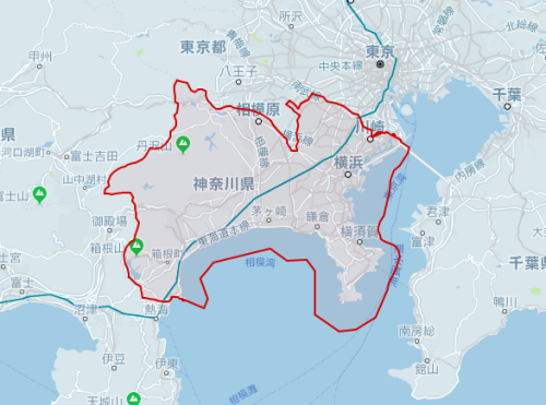 uber横浜対応エリア