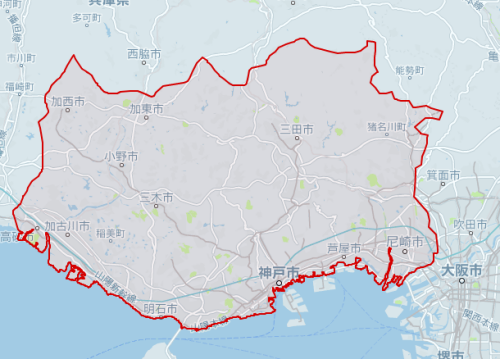 uber神戸対応エリア