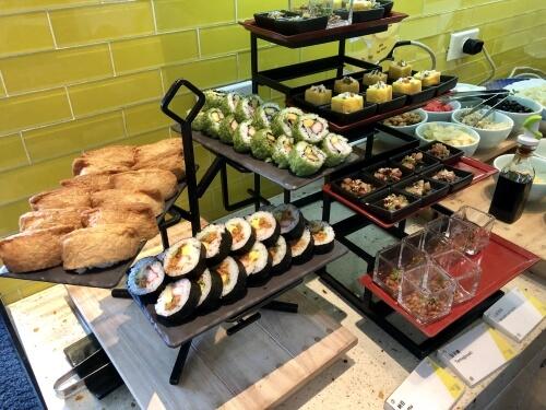 W台北の朝食日本食