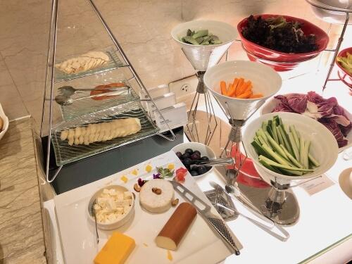 シェラトングランドホテル台北のラウンジ朝食